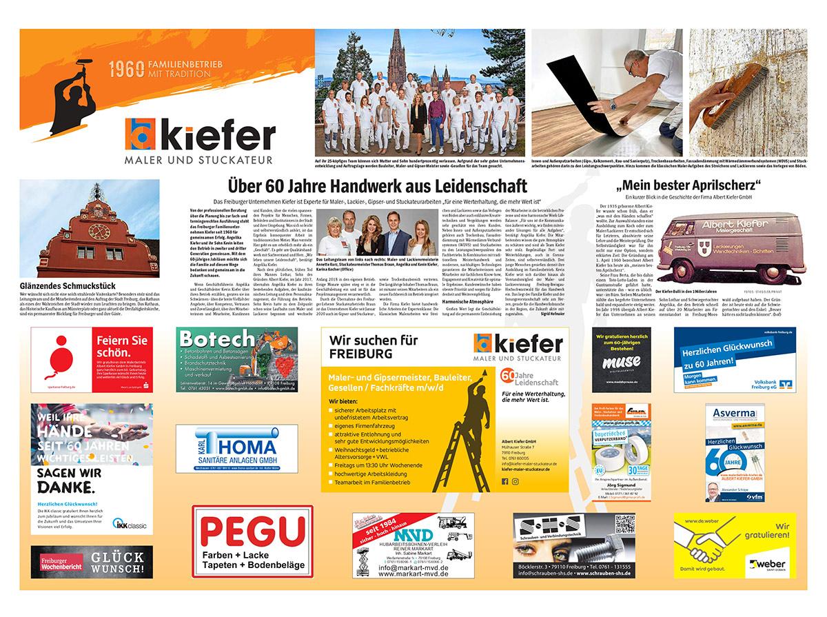 60 Jahre Albert Kiefer GmbH - Freiburger Wochenbericht 2
